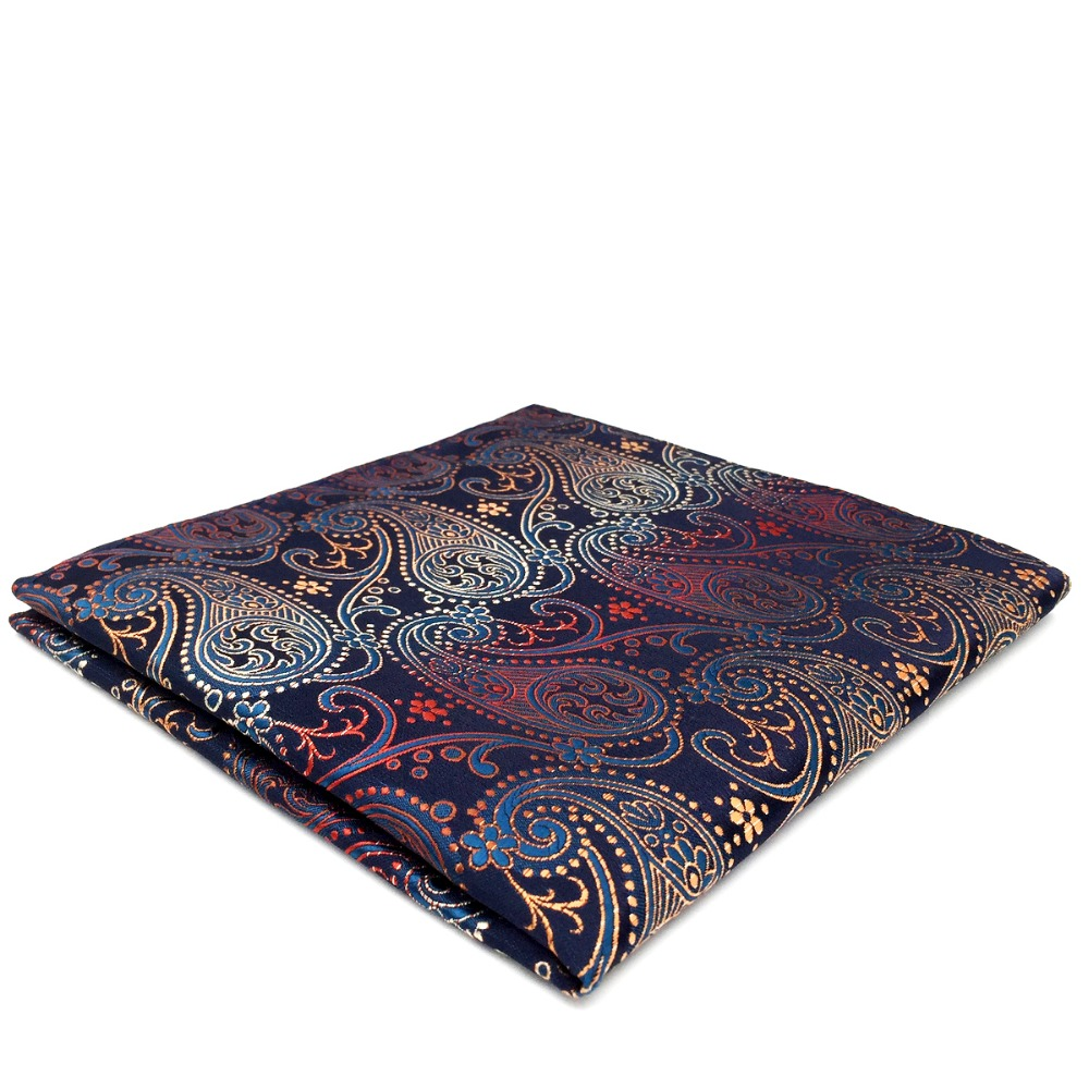 BH26 Multicolor Paisley Mens Pocket Square Wedding Handkerchief Silk