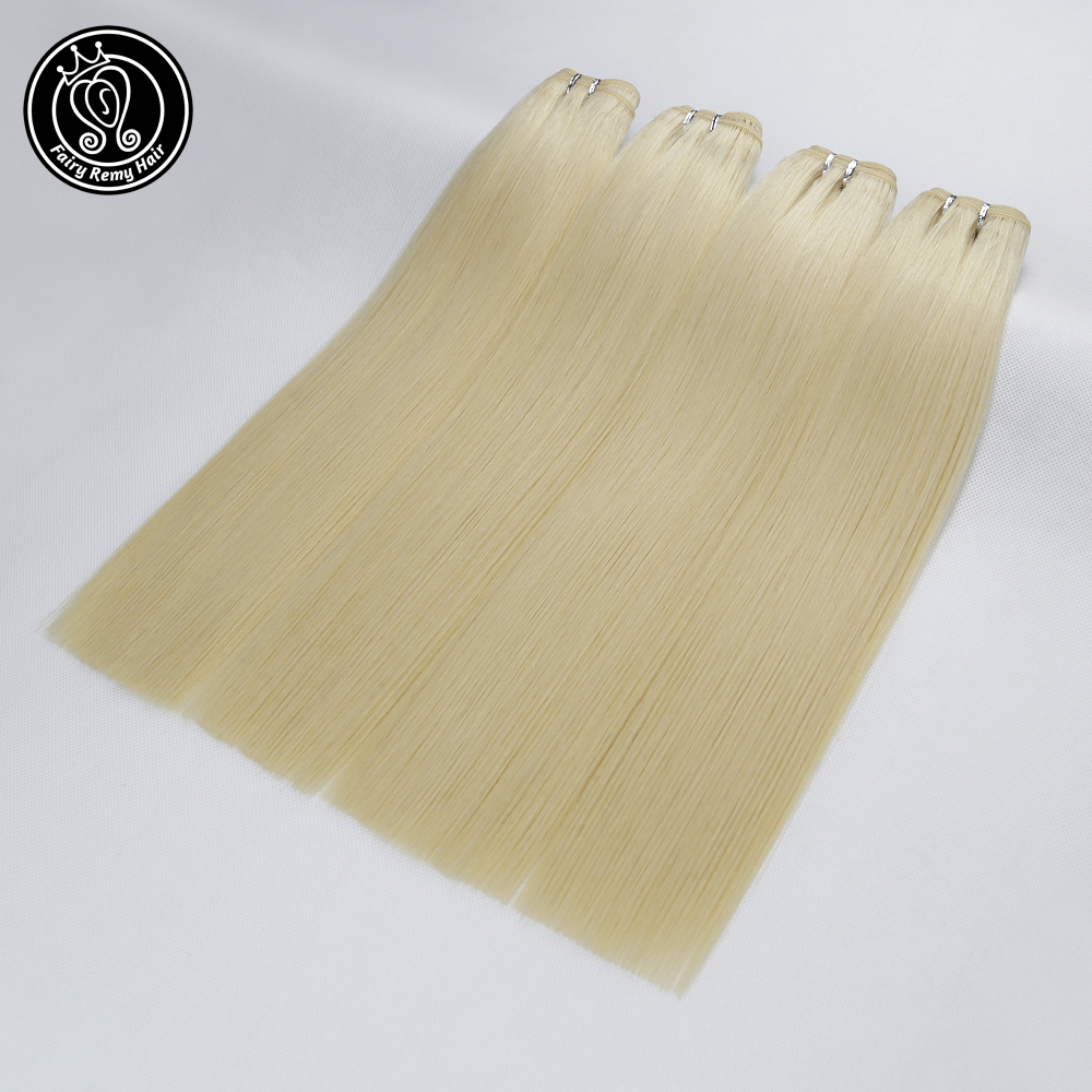 Image 3 - Fairy Remy Hair 22 inch Double Drawn Natural Remy Human Hair Weft Highlight Blonde Color Straight Bundles Hair Extensions 100gHair Weft   -