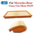 Piezas de automóviles de Carbono Filtro De Aire Para Mercedes-benz Vito Viano W639 Mixto Accesorios OEM F026400122 A0000901651, A0000903851