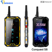 "Robuste Étanche Téléphone 3 GB RAM 32 GB ROM 6000 mAH CONQUÊTE S8 Quad Core 5 ""HD Android Ip68 GPS 4G LTE FDD Radio UHF Talkie walkie"