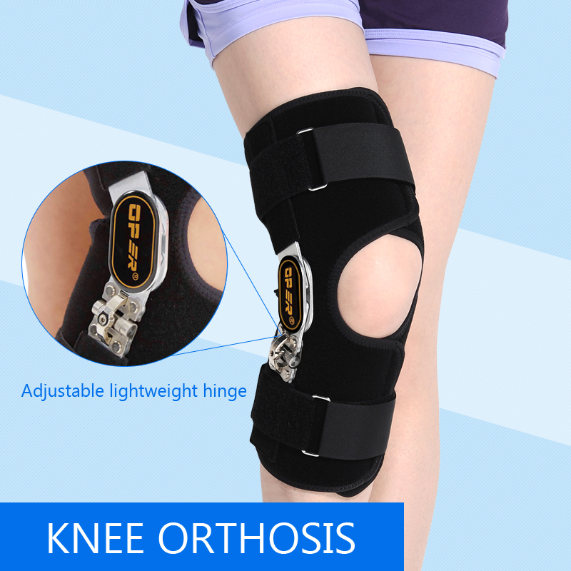 Health care relief pain Medical Knee Brace Fixator Aluminum Stabilizer Support For Joint Loose Ligamentous Injury Leg KN-92