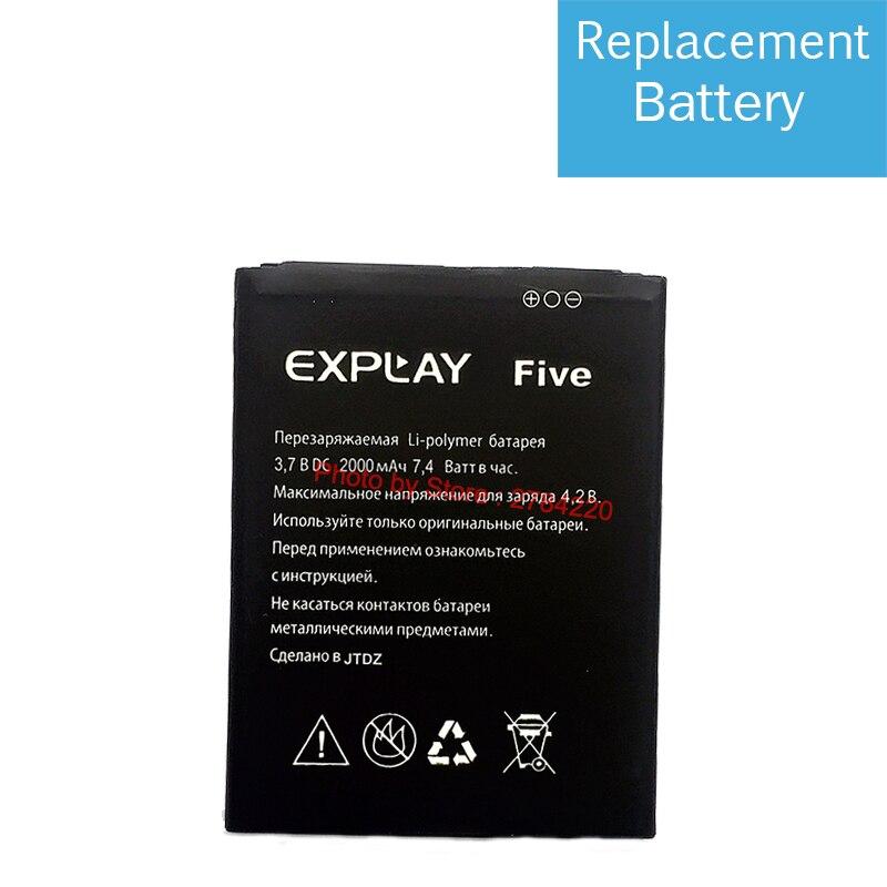 2000mAh Replacement Battery For Explay Five Bateria Batterie Baterij Cellphone Mobile Phone Batteries