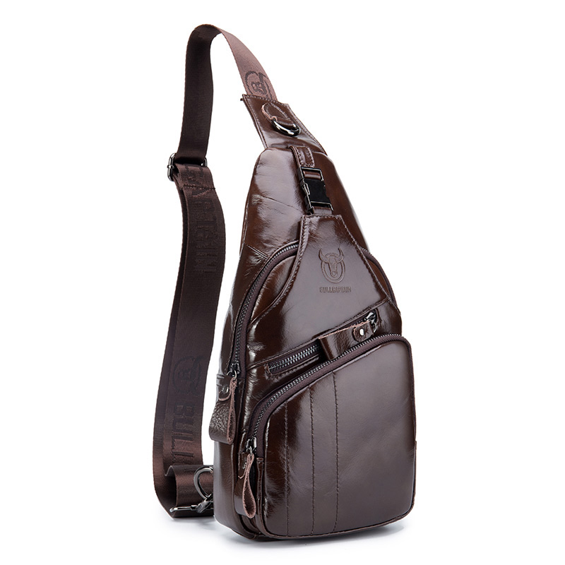 Bullcaptain 2019 Fashion Mens Genuine Leather Large Size Handba Chest Bag Sling Bag Male Single shoulder Crossbody Bag For MenBullcaptain 2019 Fashion Mens Genuine Leather Large Size Handba Chest Bag Sling Bag Male Single shoulder Crossbody Bag For Men