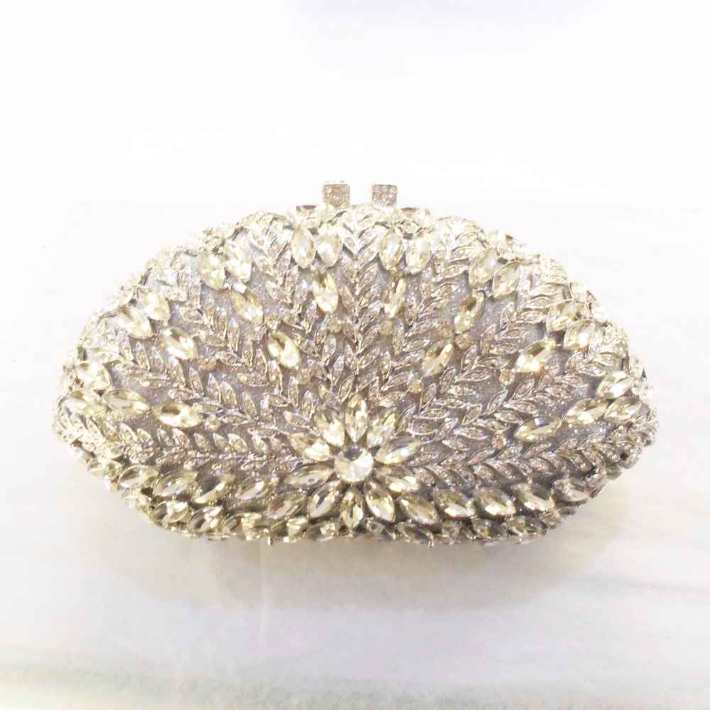ФОТО 8307S Crystal SHELL floral flower Wedding Bridal Party Night hollow Metal Evening purse clutch bag case box handbag