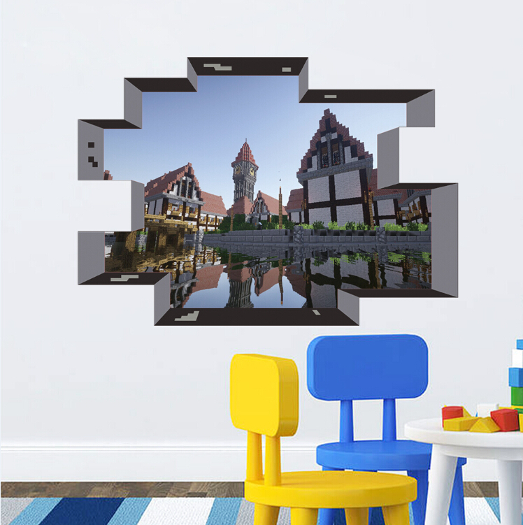 Lovely Newest Minecraft Wall Stickers Wallpaper Kids Room Decal Minecraft Home  Decoration Free Shipping 2015 ... Part 17