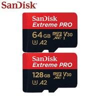 SanDisk Extreme PRO Micro SD карта скорость чтения 170 МБ/с./с 128 Гб 64 Гб U3 V30 A2 карта памяти SDXC флэш-карта TF карта 4K UHD