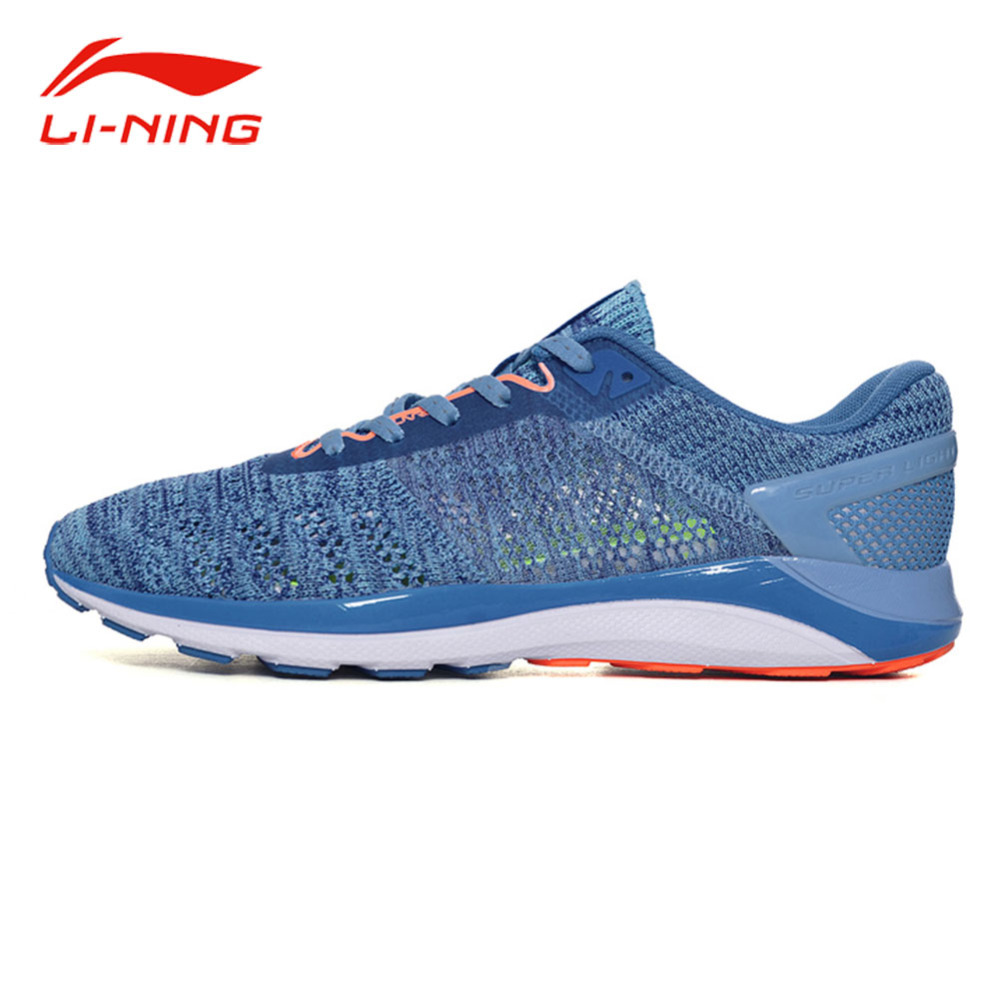 Li-Ning Women's Super Light 14 Running Shoes Textile Breathable LINING DMX Cushion Sports Sneakers Light Running Shoes ARBM028 original li ning men professional basketball shoes