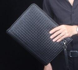 335x240mm echtem leder business manager tasche A4 lederdateiordner mit reißverschluss taschen für dokumente lagerung von dokumente 1233A-100%
