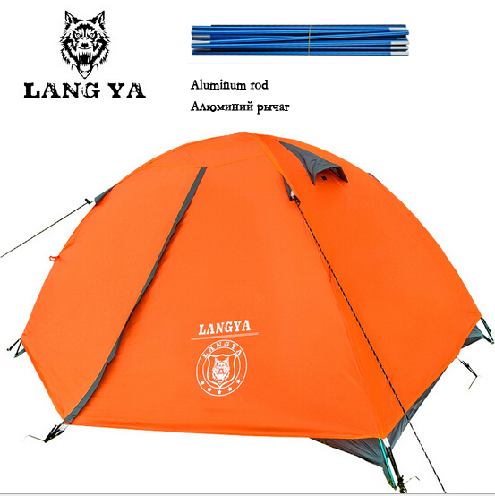 Tourist tent double layer camping Equipment for Alpinism to rest free outdoors camp cheap camping tent 2 person ultralight раскладушка therm a rest therm a rest luxurylite mesh xl