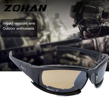 Military Goggles Bullet-proof Army Polarized Sunglasses 4 Lens Hunting Shooting Airsoft Eyewear   Outdoor Sport  UV Protection unisex c5 military glasses bullet proof army goggles sunglasses eyewear for outdoor hunting shooting airsoft bicycle goggle