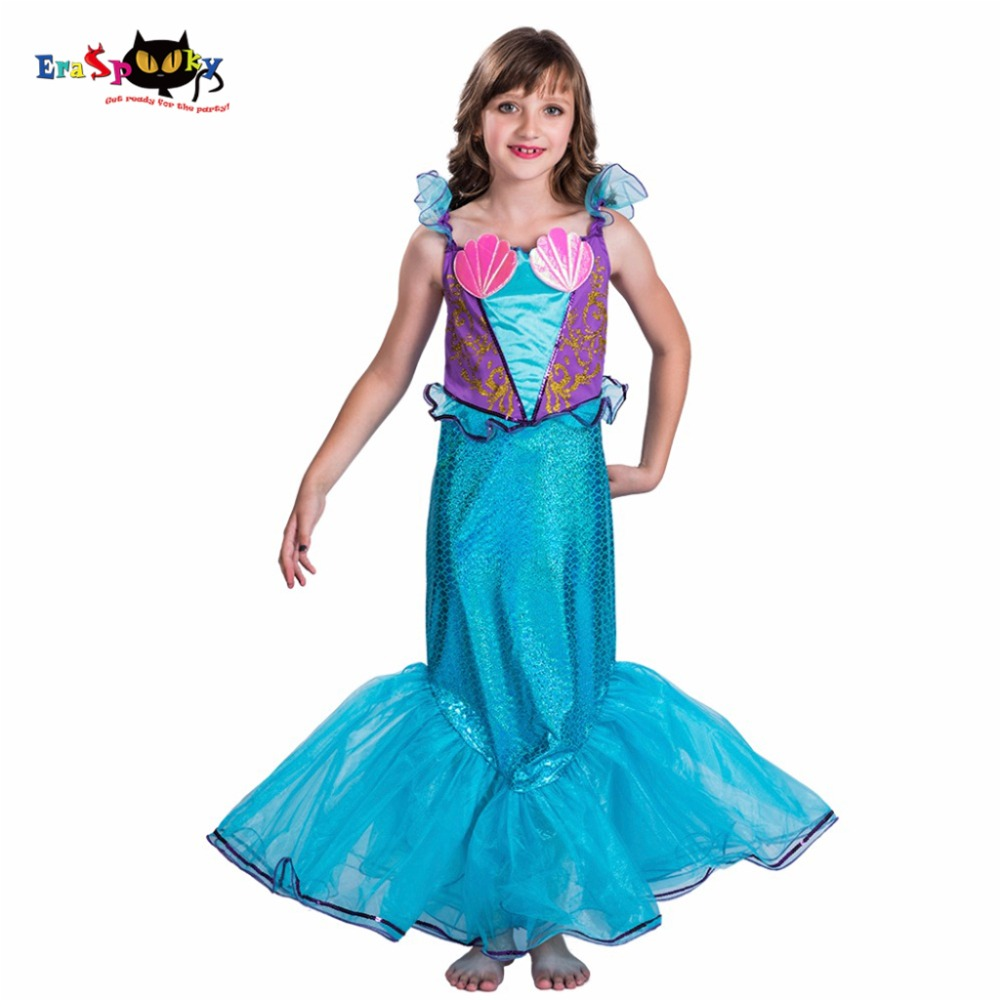 Detail Feedback Questions About Girl Blue Siren Mermaid Tail Costume