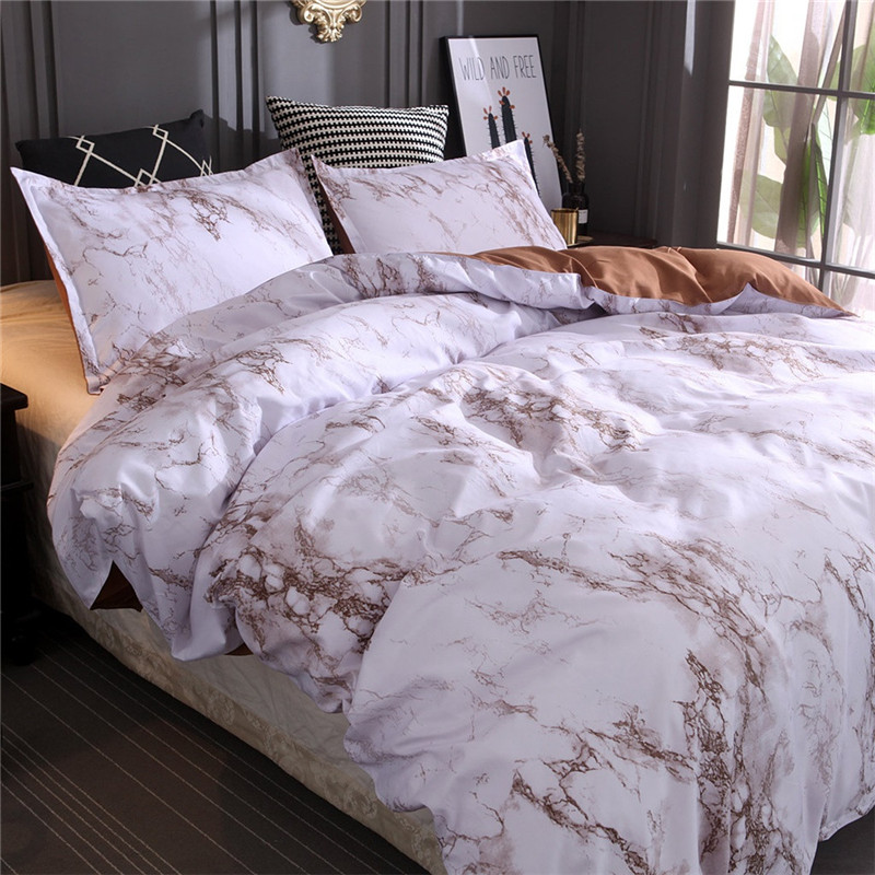 Image 3 - New Bedding Quilt Cover And Pillowcase 3D Printed marble Headfull Size Three pie  great house warming gift modern dreaming stars-in Bedding Sets from Home & Garden