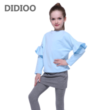 Girls Clothing Sets Cotton T-Shirts & Leggings 2Pcs Long Sleeve Children Outfits Brand Kids Tees Girls Skirts 2 4 6 8 10 12Years