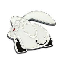 цена на For Frod Opel BMW audi 3D Metal Cute Rabbit Car sticker Logo Emblem Badge Decals Car Styling DIY Decoration Accessories