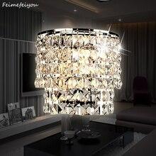 Классическая хрустальная люстра, настенный светильник, золотой кристаллический настенный светильник, светодиодный светильник для гостиной, прикроватный стеклянный Хрустальный настенный светильник
