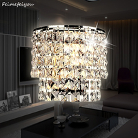 Classic Crystal Chandelier Wall Light Gold Crystalline Wall Sconce Lamp LED Foyer Living Room Bedside Glass