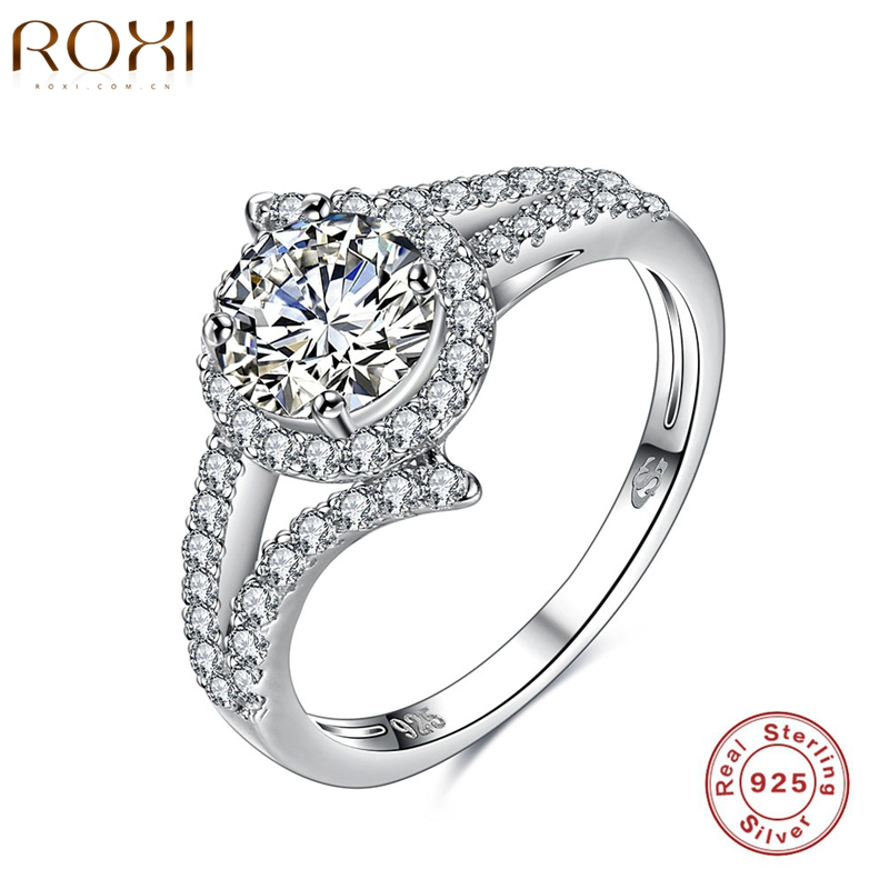 ROXI Brand 2016 New Collection 925-Sterling-Silver Brilliant Weeding  Ring Silver & Clear CZ Ring Fashion Jewelry