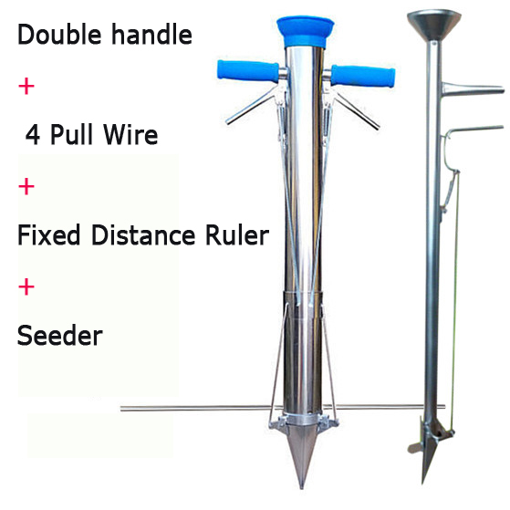 Rapid seeder stainless steel planter Seedling transplanting device Fertilizing seeder for Vegetable Planting garden equipment