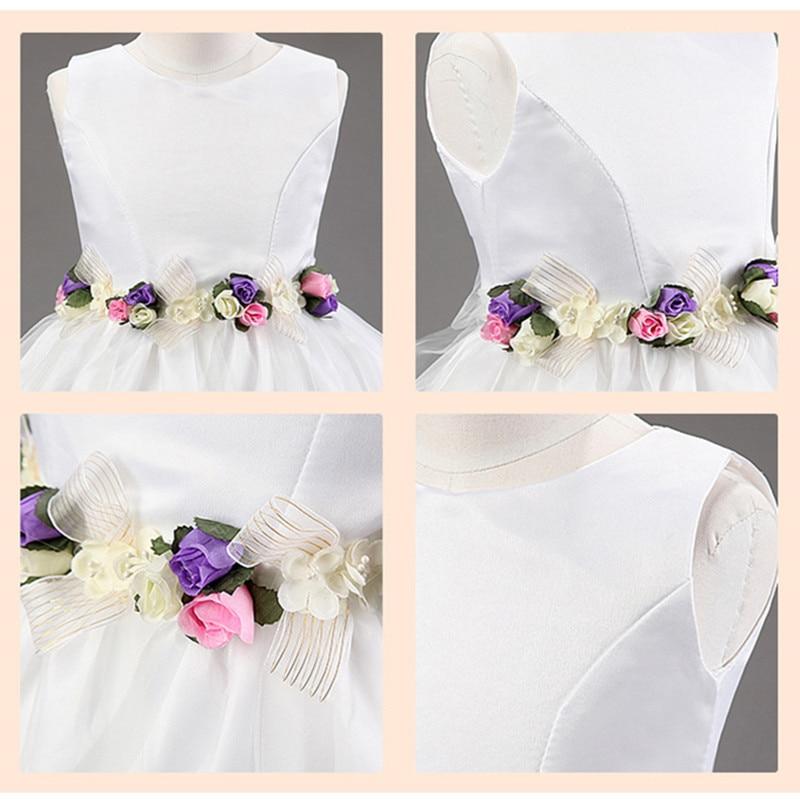 Vestido de niña de flores Fiesta de cumpleaños Vestidos de princesa - Ropa de ninos - foto 6