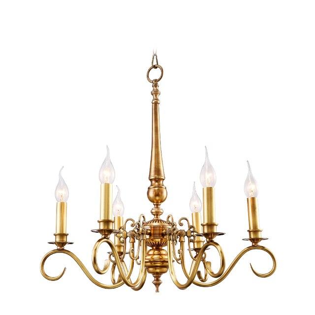Gold Bankettsaal Art Deco Kronleuchter Für Esszimmer Kupfer Küche  Beleuchtung Pastoralen Schlafzimmer Amerikanischen Vintage FÜHRTE  Kronleuchter