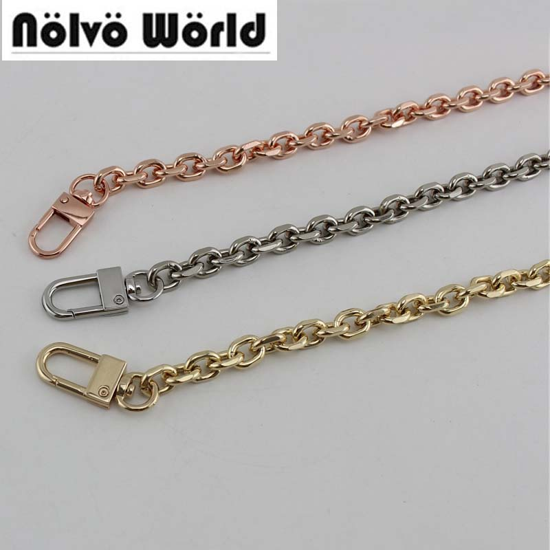 1 Piece 40-140cm 9mm Wide O Chain Anodized Rose Gold/Gold/Silver For Shoulder Bags Handbag Buckle Handle DIY
