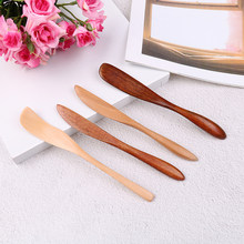 1Pc High Quality Knife Dinner Knives Tabeware with Thick Handle Knife Style Wooden Mask Japan Butter Knife Marmalade(China)