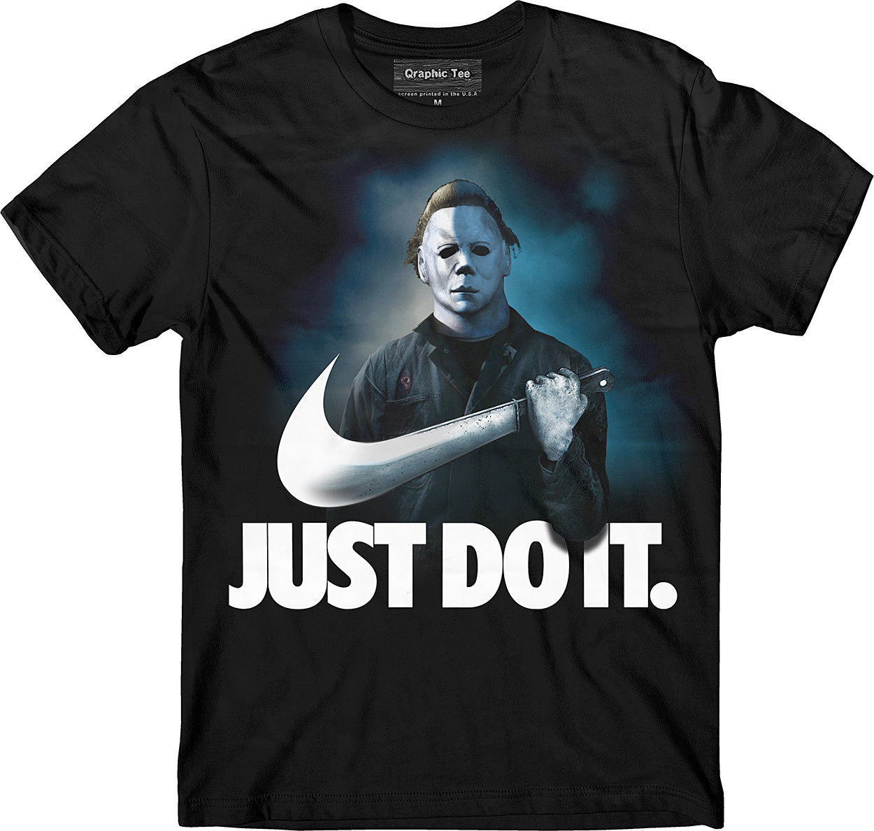 Halloween T-shirt, Michael Myers T Shirt, Just Do It, No Lives Matter, Horror Print Tee Shirt Men Short Sleeve Top Tee ...