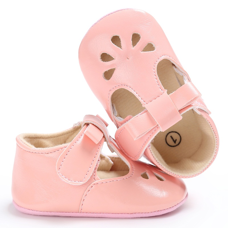 Summer Newborn Cute Baby Girls Chic PU Leather Hollow Out Princess Style Non-slip Shoes 0-18 Months ...