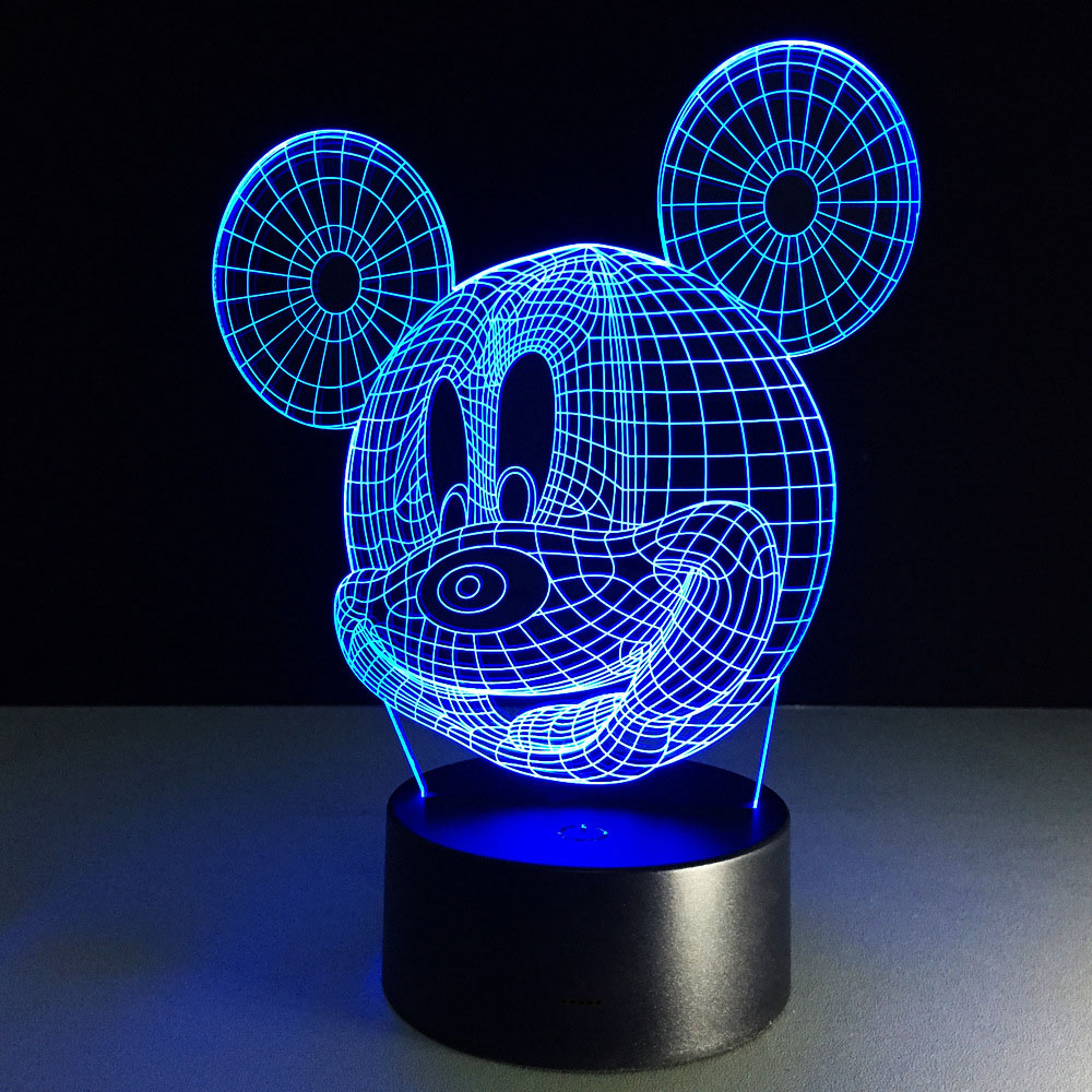 Led Licht Us 12 5 Mickey 3d Night Light Table Lamp Usb Lampara Infantil Led Bulbing Licht Speelgoed Fairy Light Kids Night Light Children In Led Night Lights