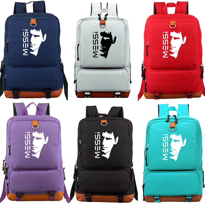 Messi Daily Large Capacity Backpack Students Boys Girls Back To College Rucksack Fashion Cool Casual High Quality Travel Mochila