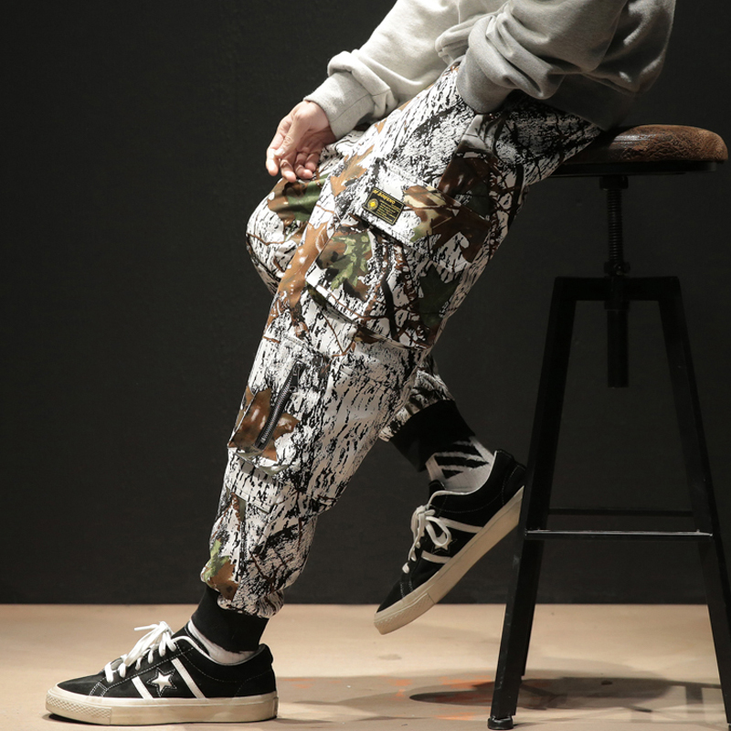 Fashion Loose Harem Pants Dancing Clothing Male Jogger Trousers Sweatpants High Street Hip Hop Casual Camouflage Pants Men(China)