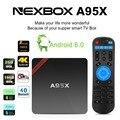Nexbox A95X 10 pcs 1G 8G/2G 8G/2G 16G Android 6.0 caixa de tv S905x Amlogic quad core Kodi 16.1 2.0 HDMI 2.4G wifi mídia jogador