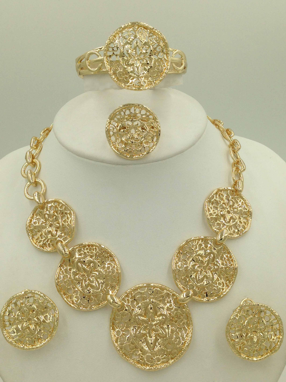 Buy gorgeous18k dubai gold plated jewelry sets fashion summer style folli Design and style fashion jewelry