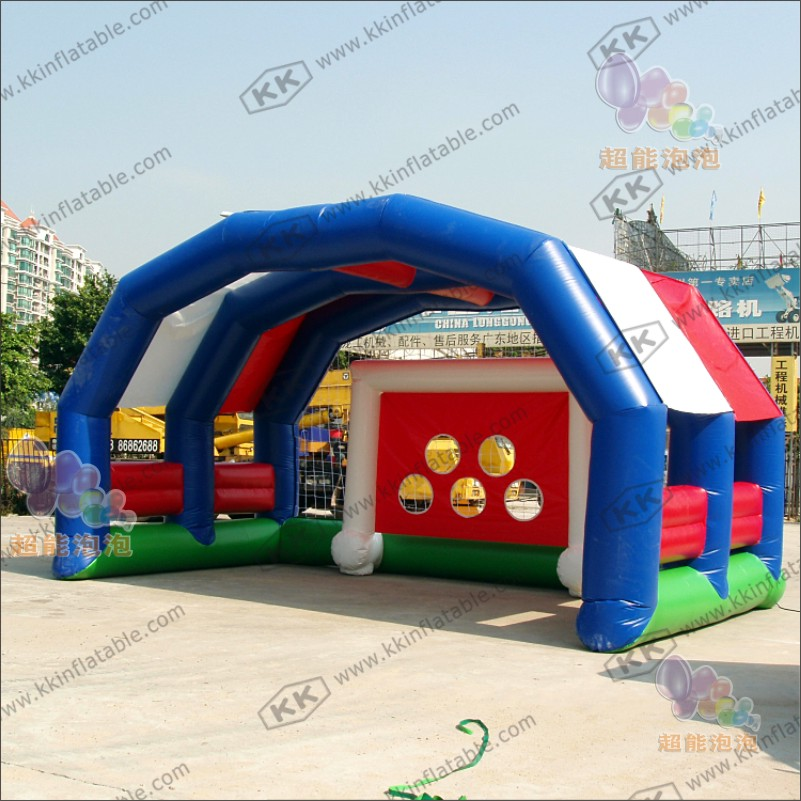 Reinforced Safe PVC Football Shootout For Inflatable Soccer Field With 5 Goals