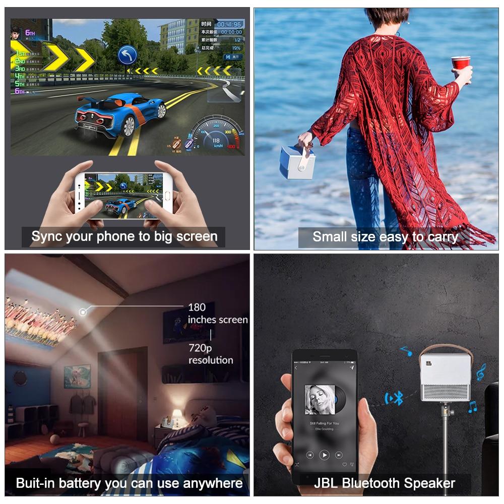 Проекторы XGIMI CC Aurora Mini Портативный DLP-проектор Домашний кинотеатр Android Wifi 3D Поддержка 4K HD-видео с батареей (Фото 5)