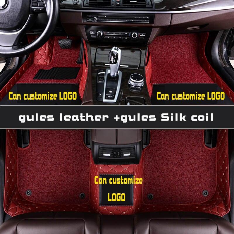 Tapis de sol de voiture pour toyota prado 120 90 95 2015 accessoires toyota land cruiser prado 120 150 3d tapis de sol personnalisés pour voitures prado - 4