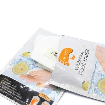 2pcs/Pair Lemon Exfoliating Foot Mask Moisturizing Hydrating Whitening Feet Care Remove Dead Skin Foot Peeling Foot Mask TSLM2