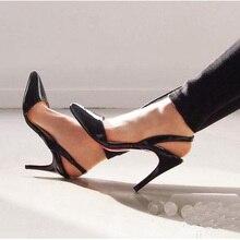 Sommer Mode Sandalen Flache Schuhe Frau 8 CM Rote Untere High Heels Spitz Frauen Pumpt Große Größe Sandale Freies verschiffen