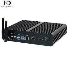 Безвентиляторный Barebone мини-ПК core i7 6500U/6600U Dual Core с HDMI 4 К, dp, USB 3.0, sd карта порт, мини офисный компьютер