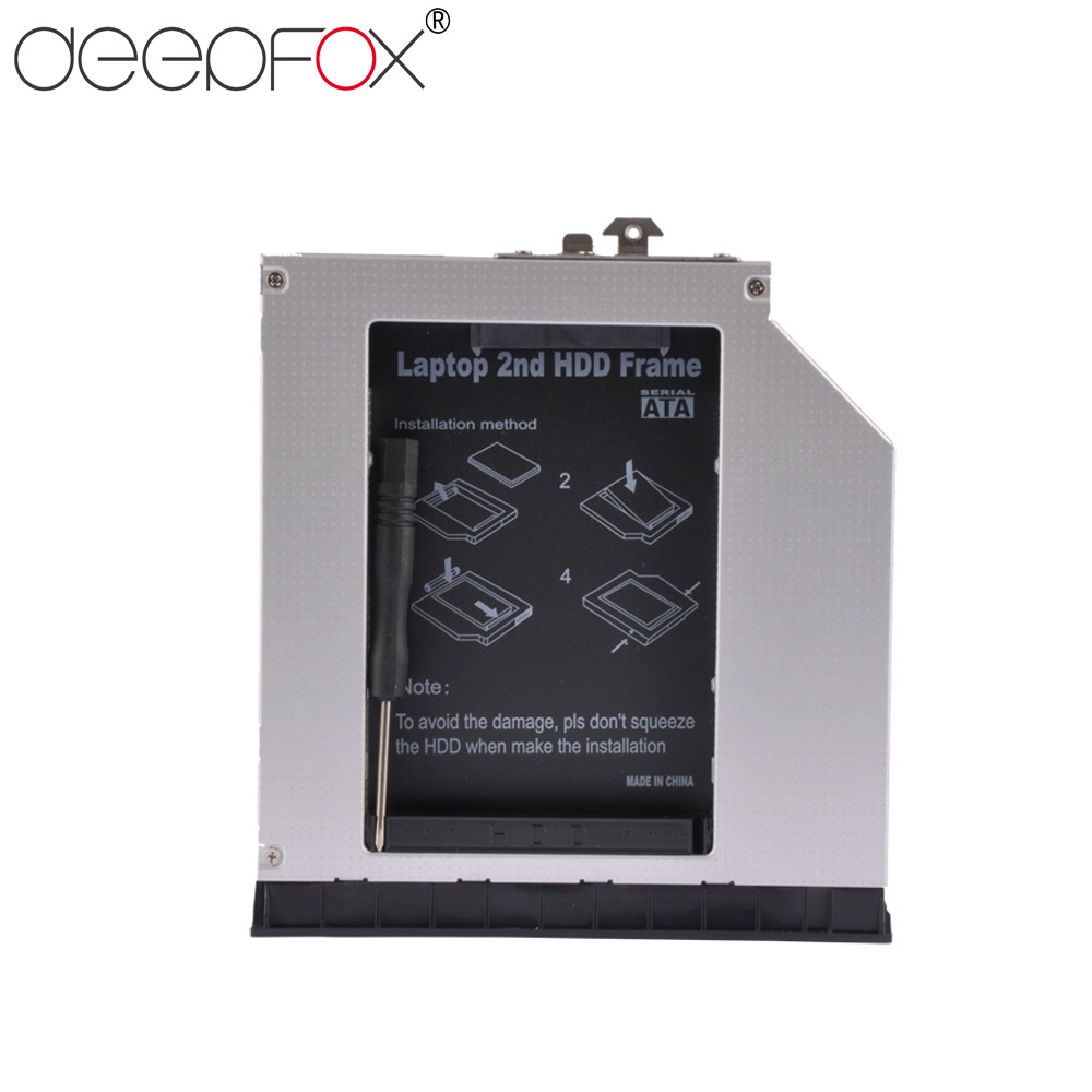 DeepFox 2nd HDD Caddy 12.7mm SATA 3.0 2.5