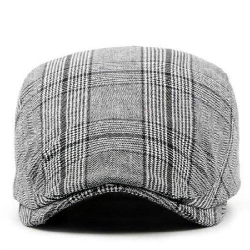 Que no chuveiro masculino feminino primavera verão xadrez boina ao ar livre  cap para mulheres homens do vintage ocasional pico plana chapéu bico de pato  ... dc07850cca2