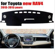 Приборной панели автомобиля Обложка Коврик для TOYOTA Новый RAV4 2013 до 2017 левым dashmat Pad Даш коврик охватывает приборной панели аксессуары