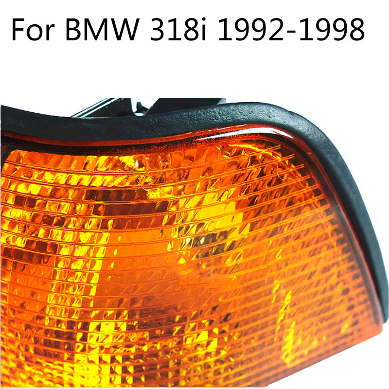 2pcs Amber Corner Light for BMW E36 325i 320i 4Dr 92-95 E36 318ti 328i 92-99 CT