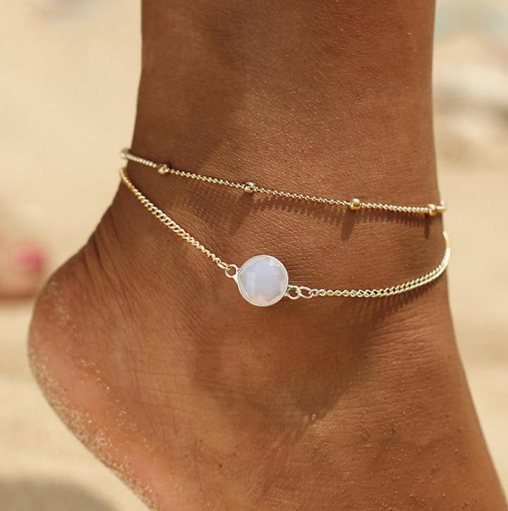 2019 New Fashion Shell Anklet Summer Beach Barefoot Jewelry Leg Bracelet Handmade Bohemian Jewelry Wholesale