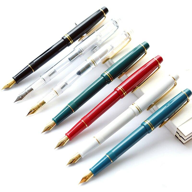 Für Wing Sung 3013 Vaccum Füllfederhalter Harz Qualität Ink Pen Nib EF F