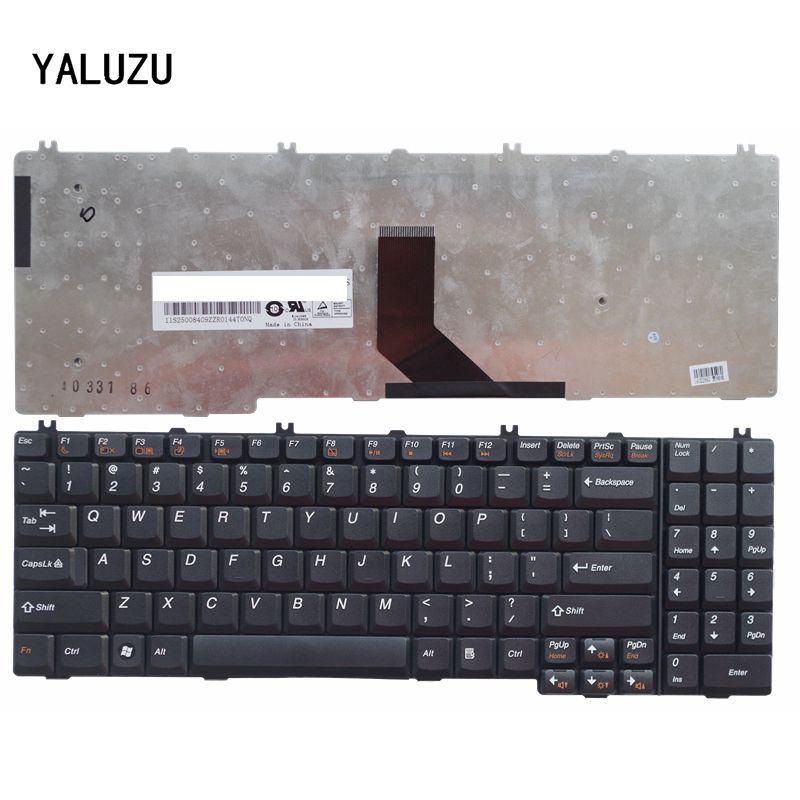 YALUZU New US Keyboard For Lenovo FOR IdeaPad B550 B560 V560 G550 G550A G550M G550S G555 G555A G555AX Black US Laptop Keyboard