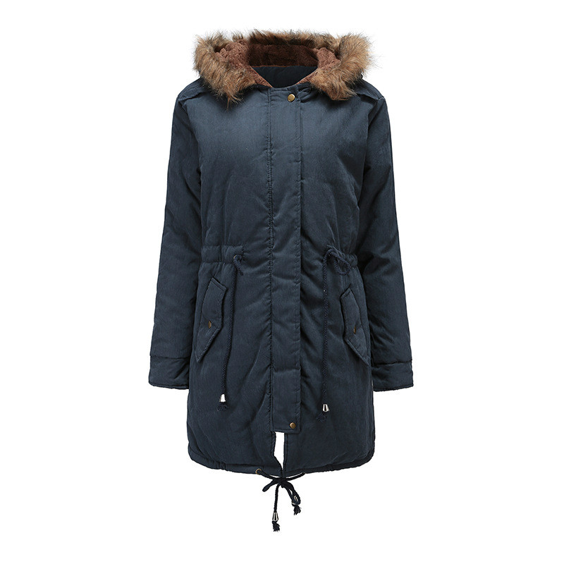 b14643efb Aphrodite Home New Long Parkas Female Womens Winter Jacket Coat Thick  Cotton Warm Jacket Women Outwear Parkas Plus Size Fur Coat