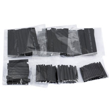 Hot 127pcs 2:1 7 Sizes Assortment Polyolefin Halogen-Free Heat Shrink Tubing Tube Sleeving Wire Cable Kit