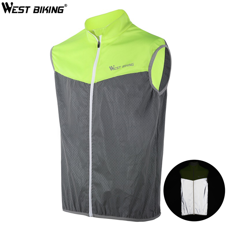 Realistic West Biking Reflective Cycling Vest Men Women Safety Bike Vests Sleeveless Breathable Quick Drying Bicycle Jacket Sports Vest Back To Search Resultshome