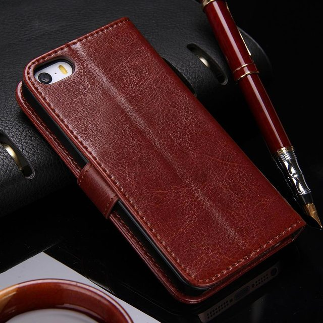 Wallet Leather Case for Apple iPhone 5S 5 1
